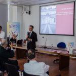 30 maggio, Pastiglie Leone, conferenza stampa di PWF7 e visita allo stabilimento: Guido Cerrato Frandino per Camera di Commercio di Torino e Maestri del Gusto (foto di Jedi Studio)